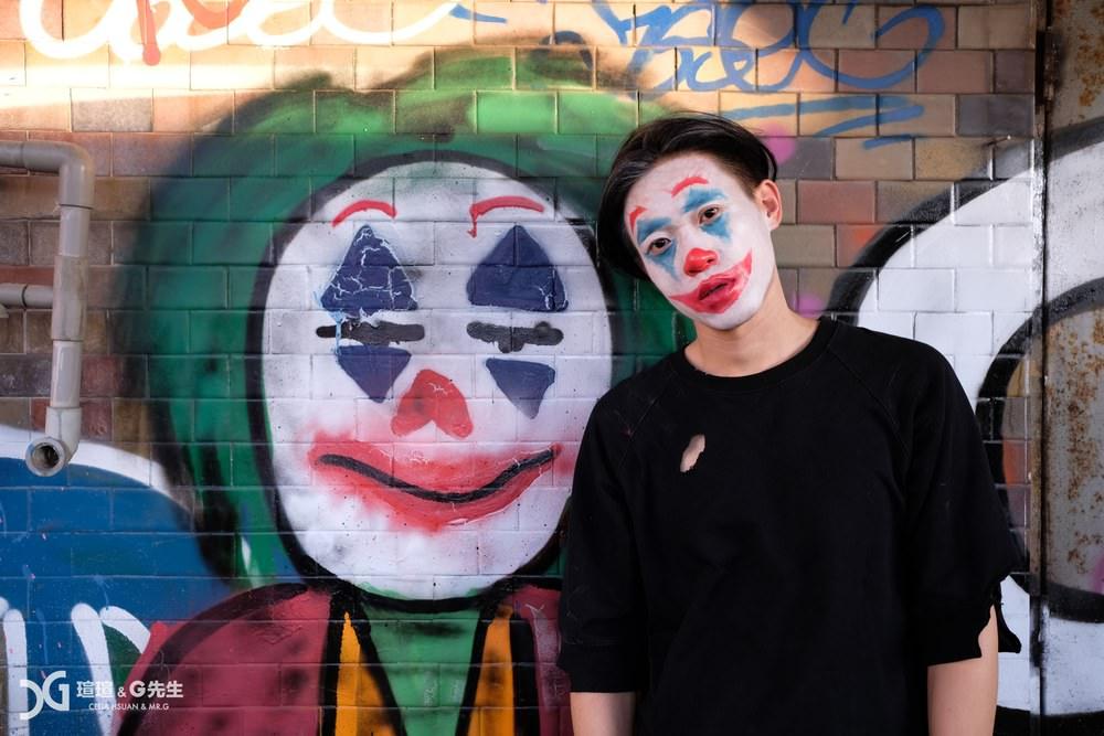 台中景點 台中街拍景點 千越大樓 潮流 小丑 小丑女