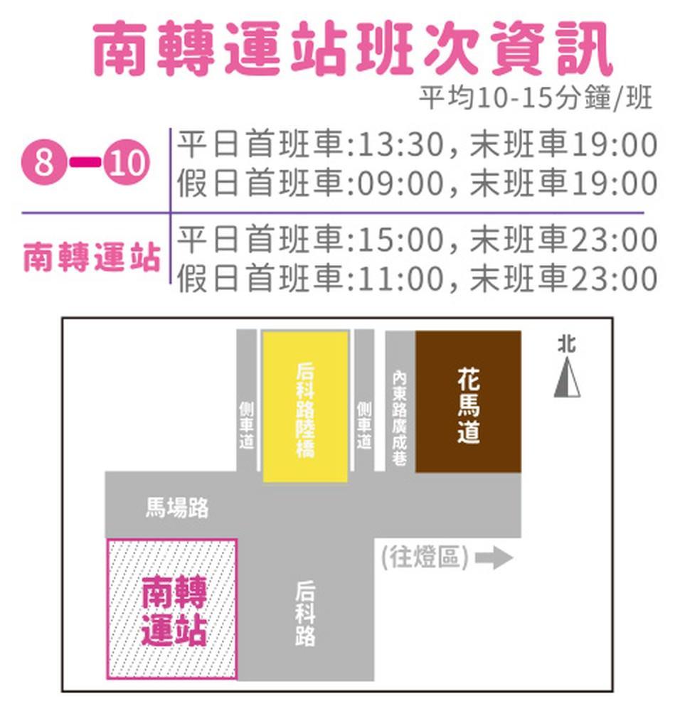 2020台灣燈會主燈區接駁車班次